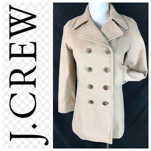 J. Crew Tan Thinsulate Lined Pea Coat